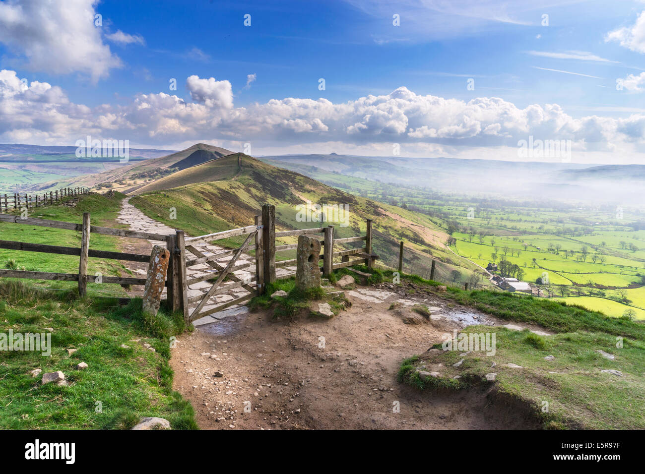 Mam Tor in the English Peak District - Stock Image