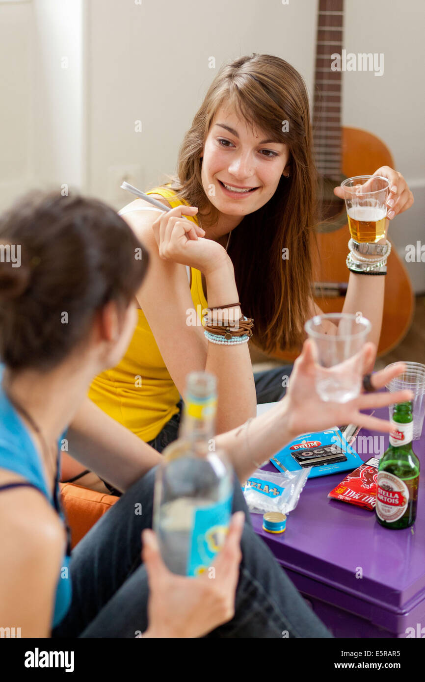 Girl Smoking Marijuana Joint Stock Photos & Girl Smoking