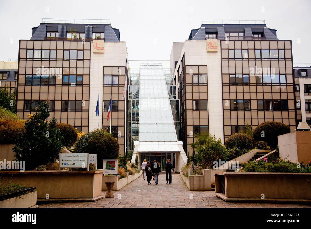 Siège de la Mutualité française à Paris. - Stock Image