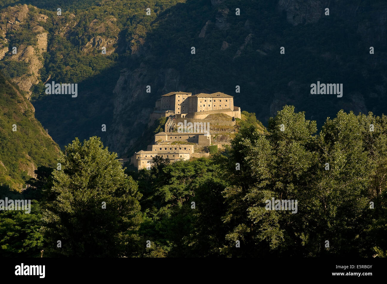 Italy Valle d'Aosta Bard the Fort - Stock Image