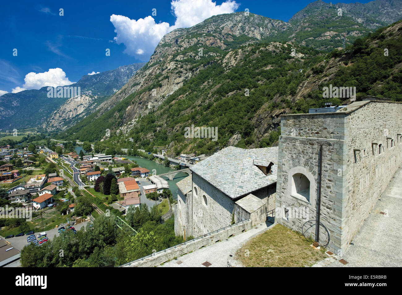 Italy Valley of Aosta Bard the brief Fort - Stock Image