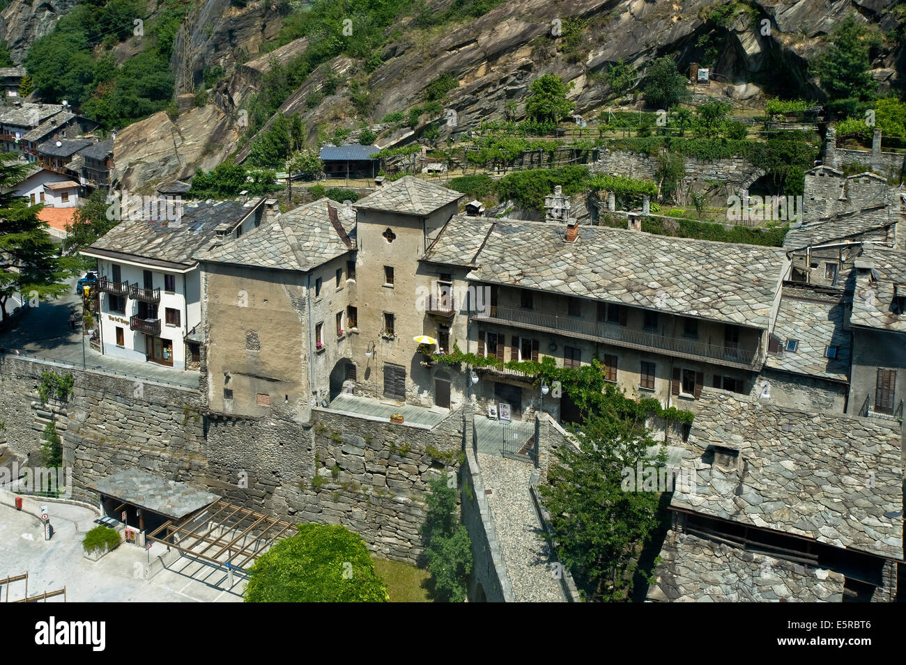 Italy Valley of Aosta Bard the Village - Stock Image