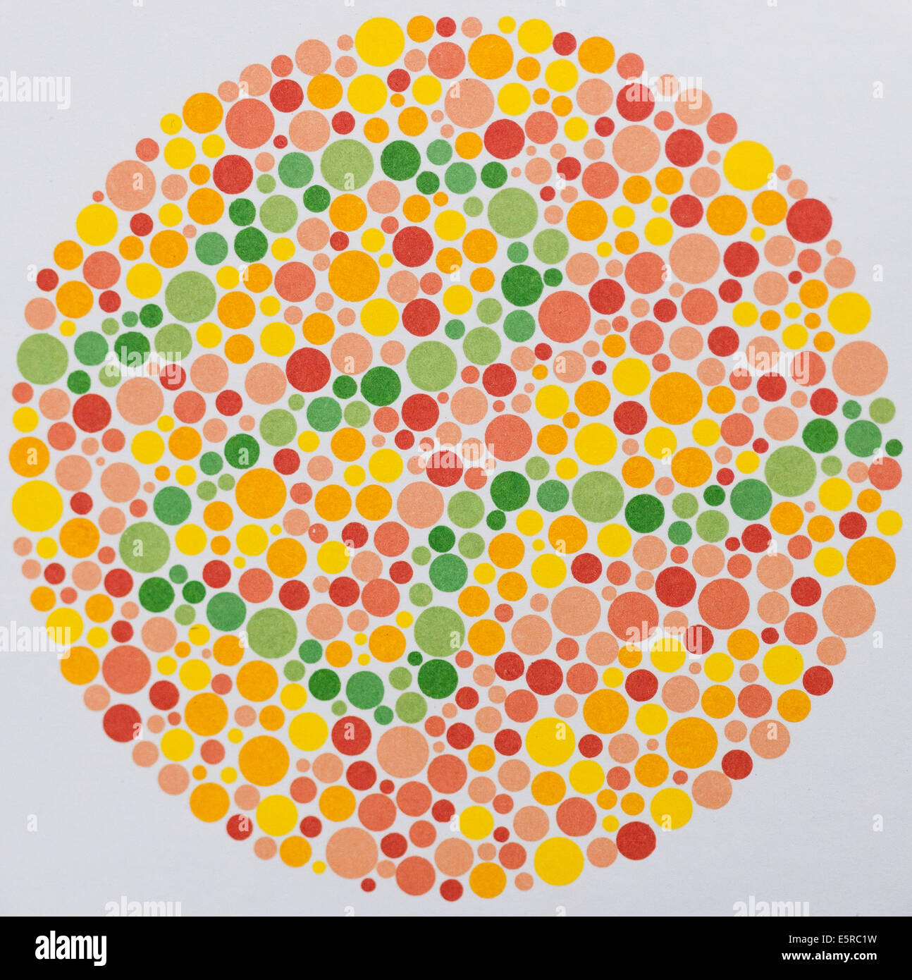 Ishihara color vision test plates used for color blindness screening ...