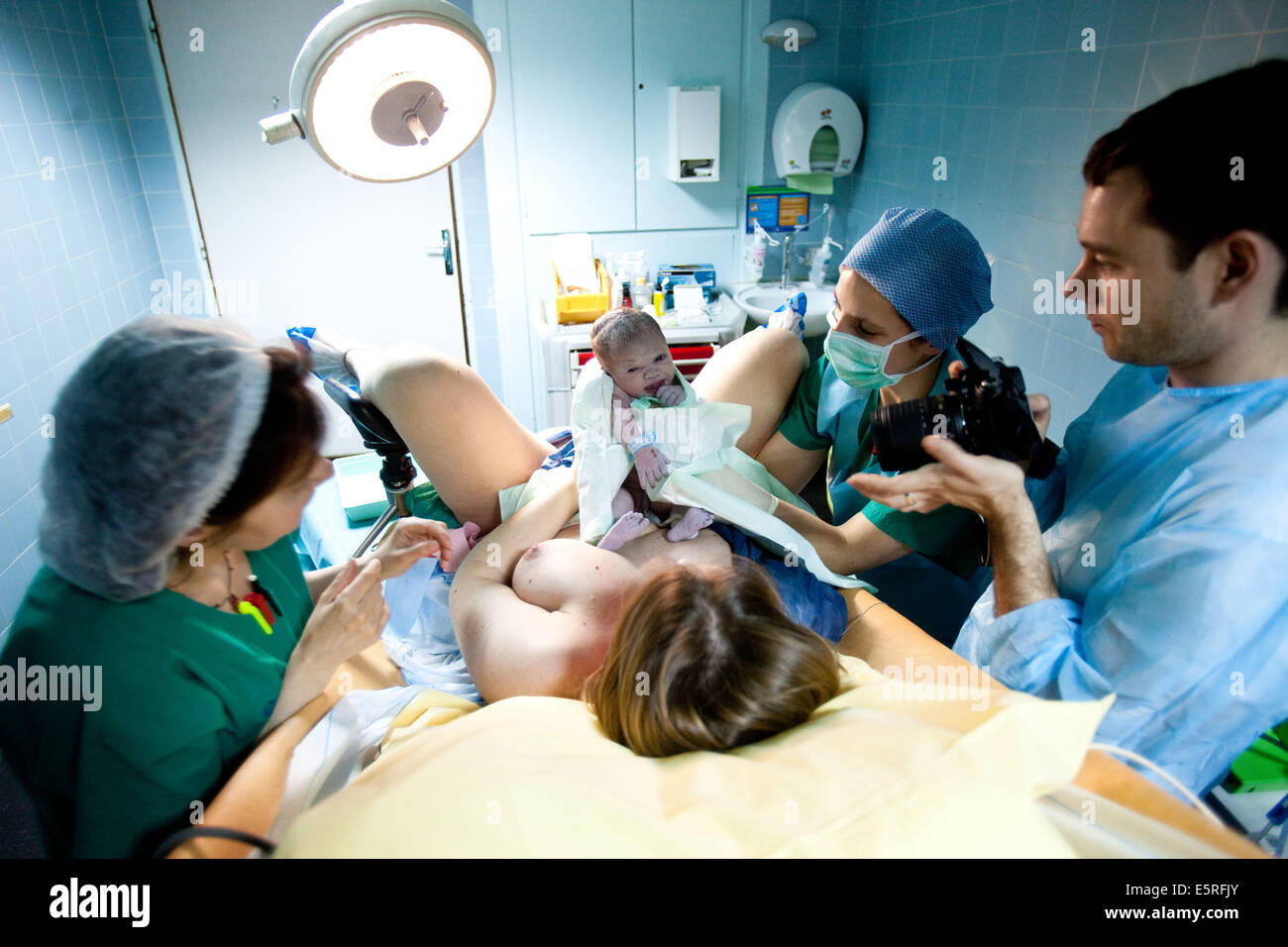 Baby Delivery In Labour Room