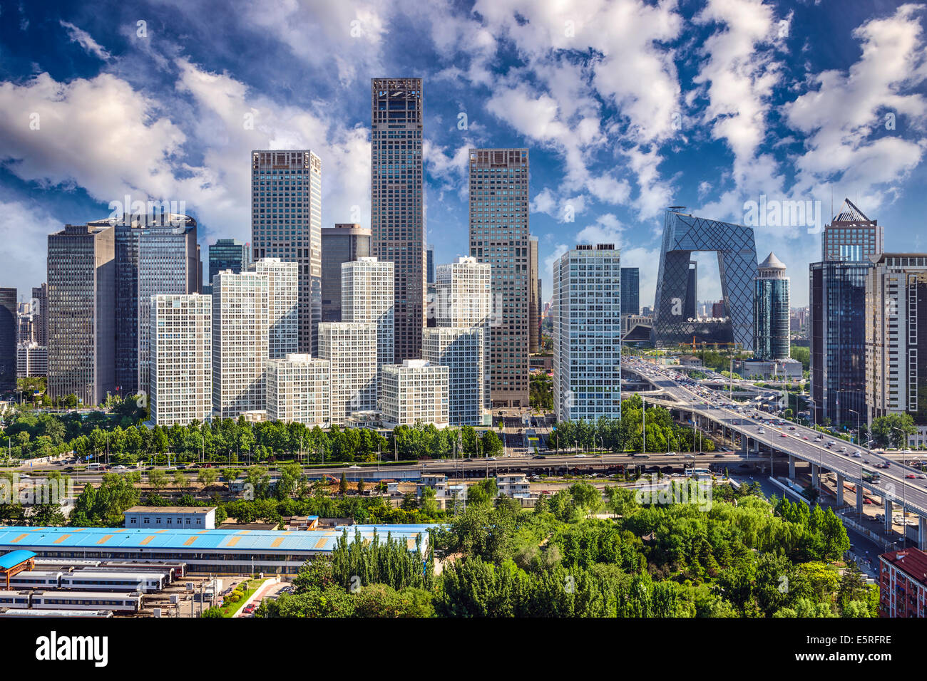 Beijing, China financial district cityscape. - Stock Image
