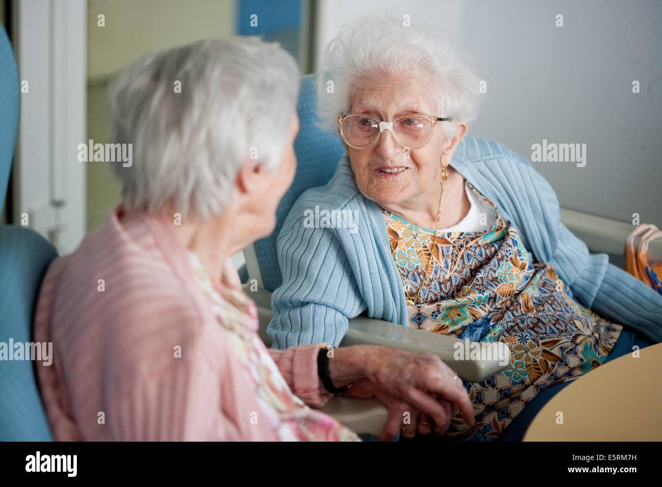 Residential home for dependent elderly person, Limoges, France. - Stock Image