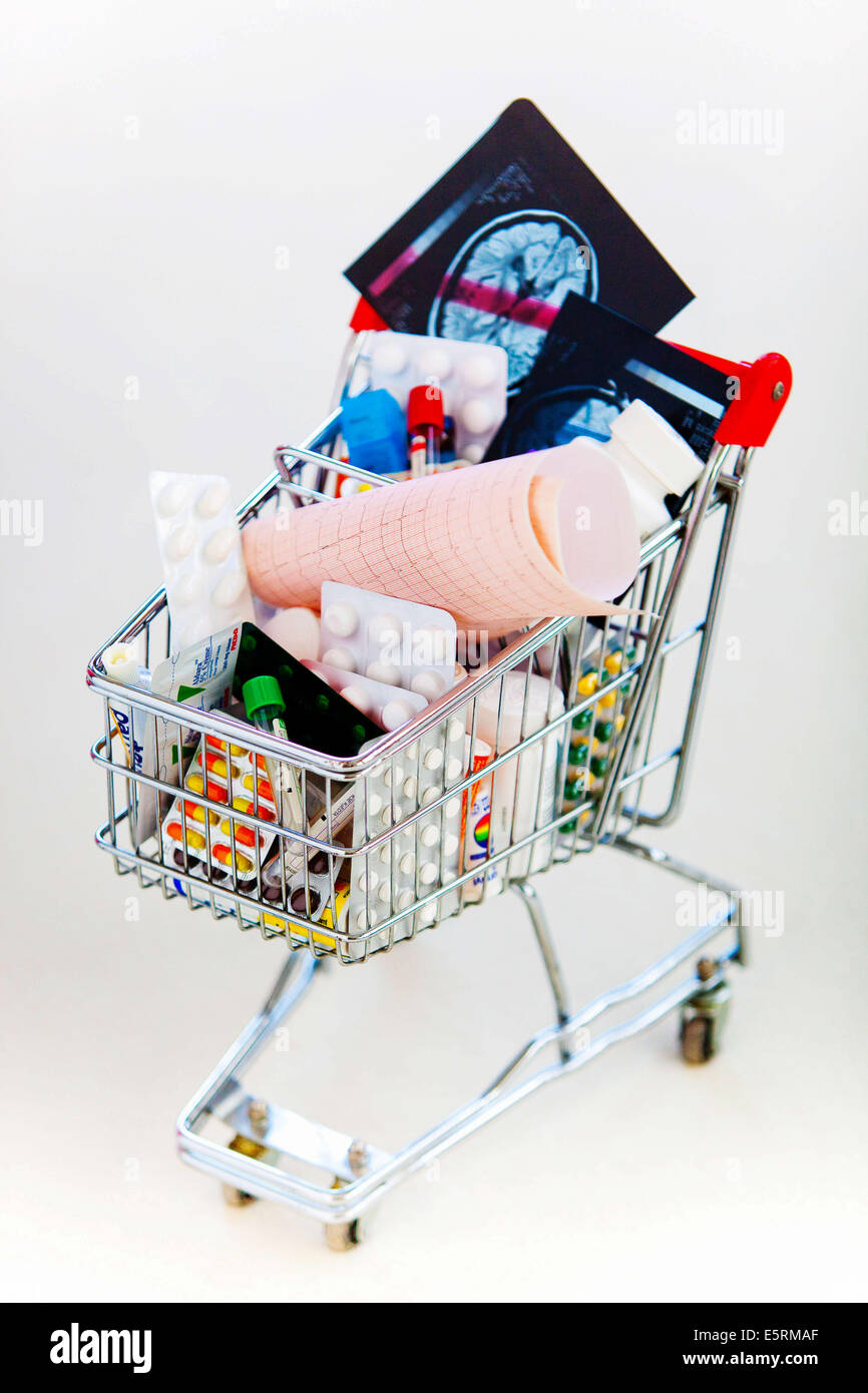 Drugs in a caddie. Stock Photo