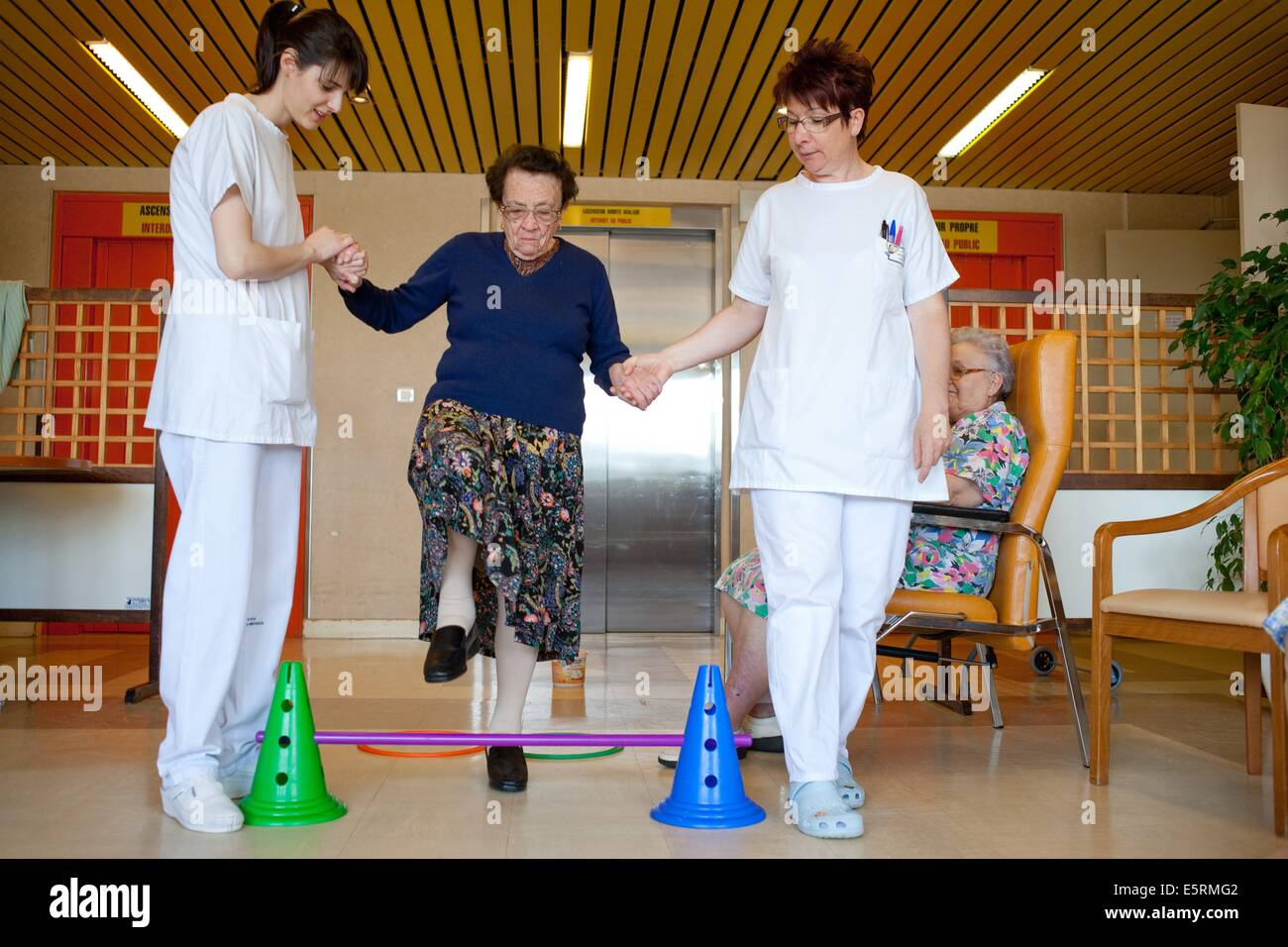 Retirement home gym france stock photos retirement home gym