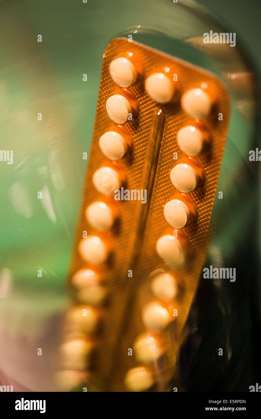 Yasmin ® fourth-generation contraceptive pills marketed by Bayer Laboratories. - Stock Image