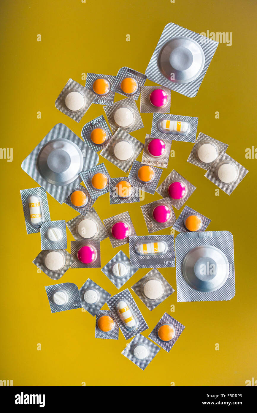 Drugs sold individually. - Stock Image