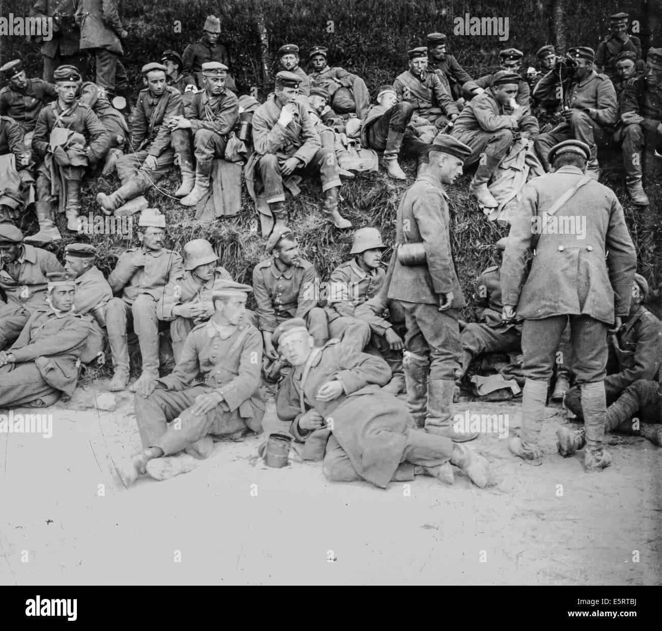 German prisoners during World War I, France. - Stock Image