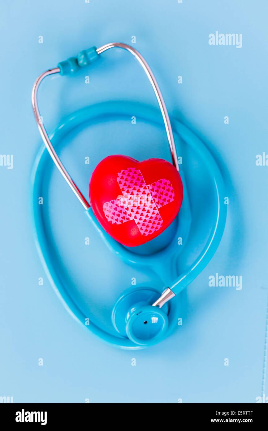 Stethoscope Heart Concept Stock Photos & Stethoscope Heart Concept ...