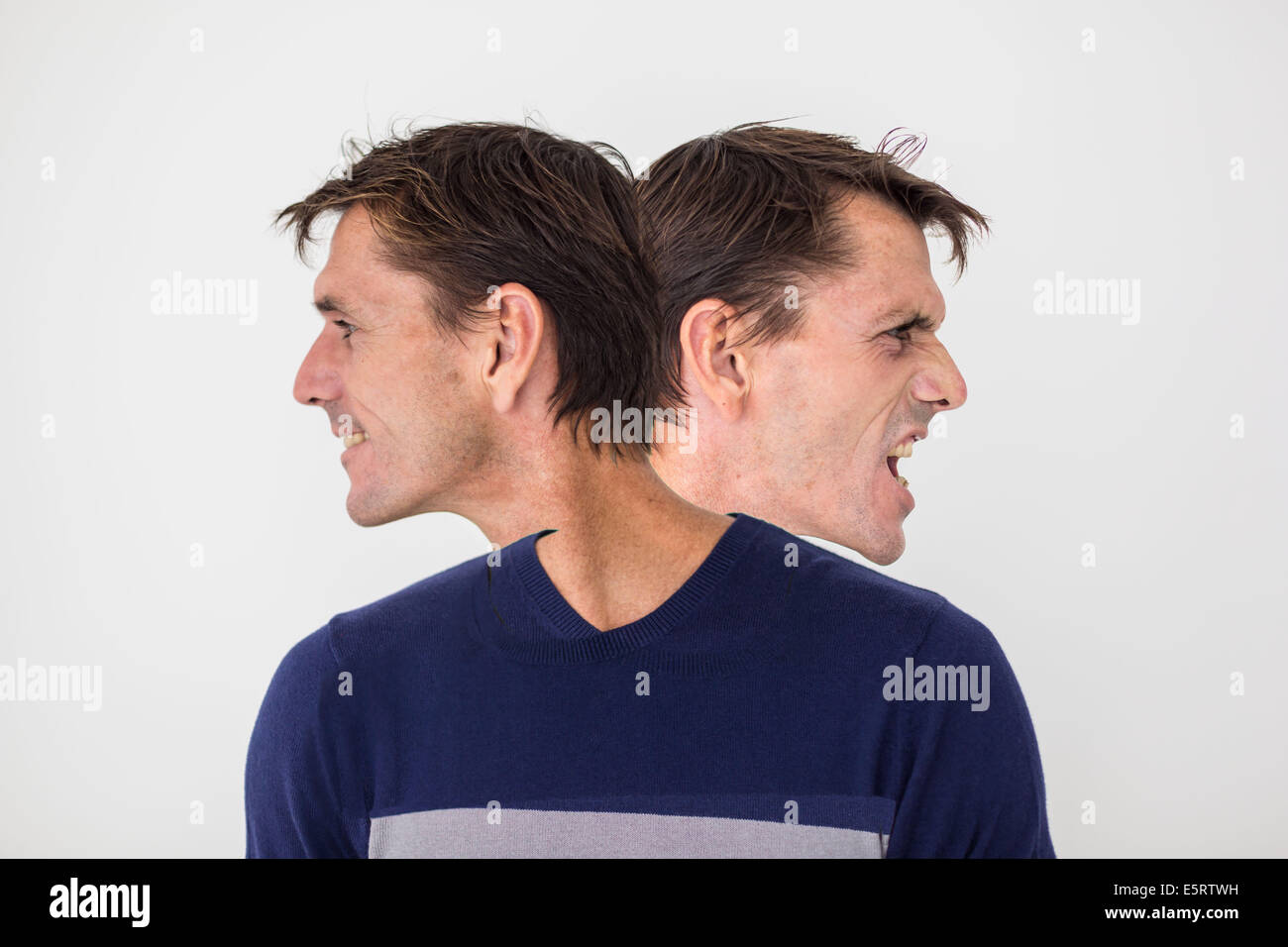 Conceptual image of personality disorders. - Stock Image