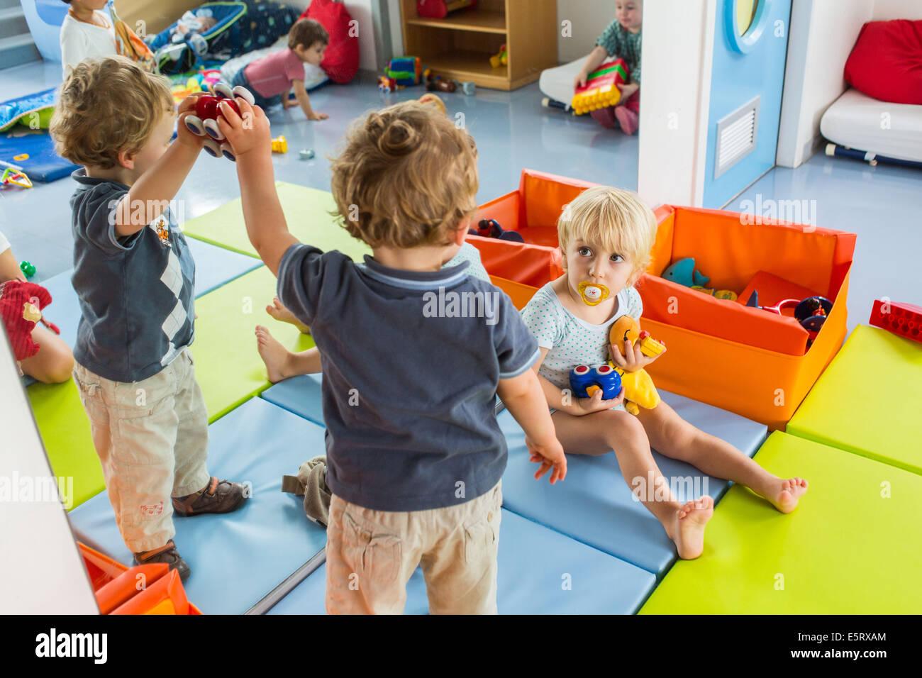 Day nursery, Angoulême, France. - Stock Image