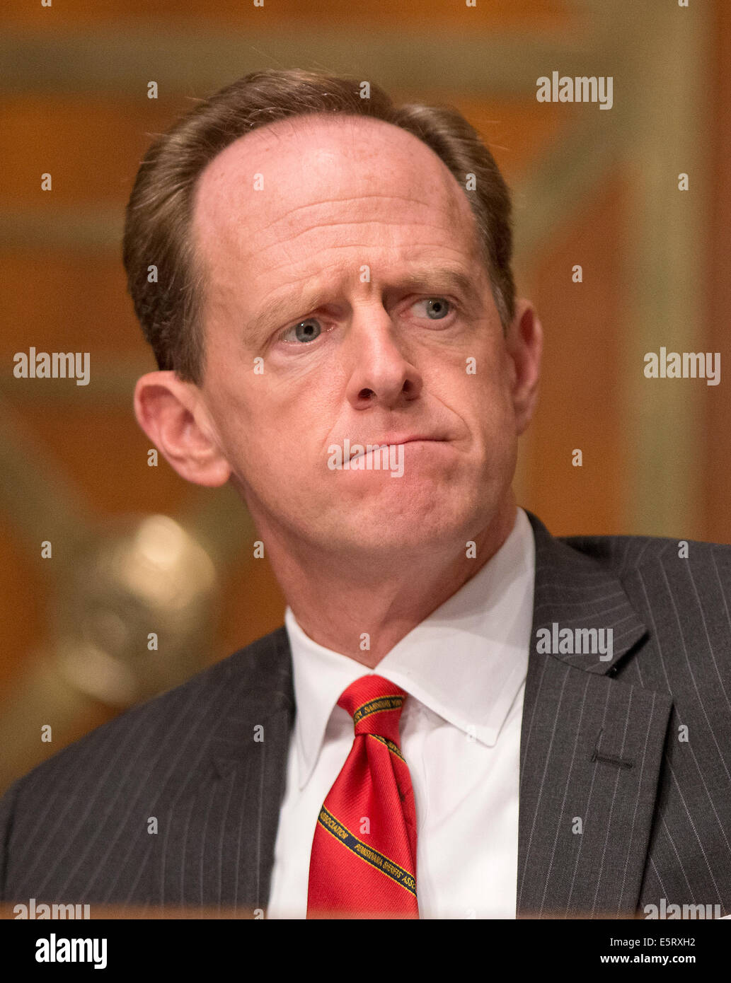 United States Senator Pat Toomey (Republican of Pennsylvania), Ranking Member of the U.S. Senate Committee on Banking, - Stock Image