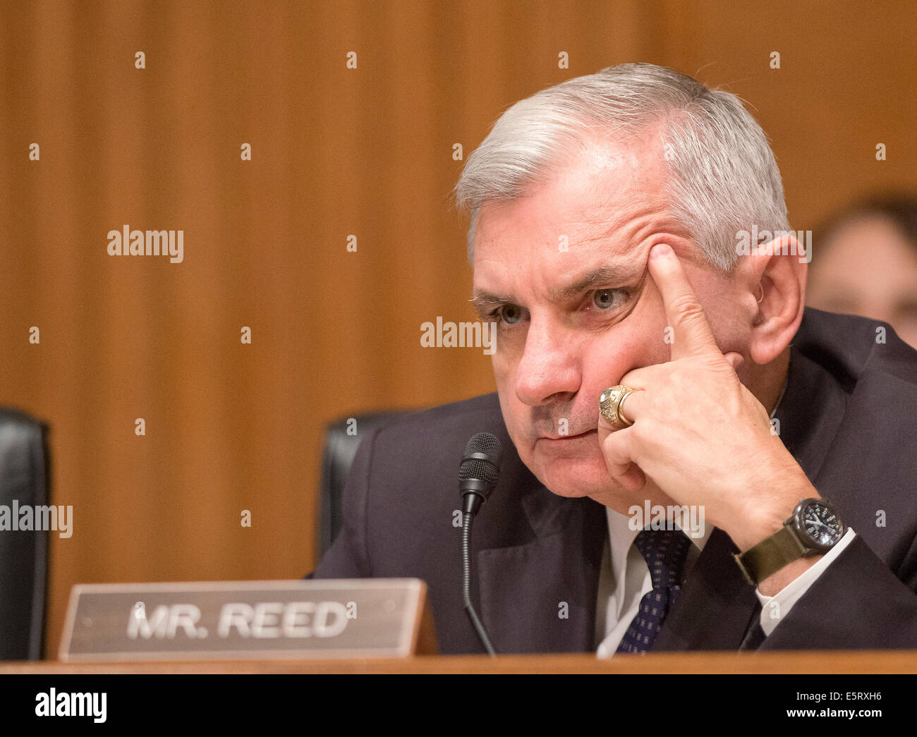 United States Senator Jack Reed (Democrat of Rhode Island), a member of the U.S. Senate Committee on Banking, Housing - Stock Image