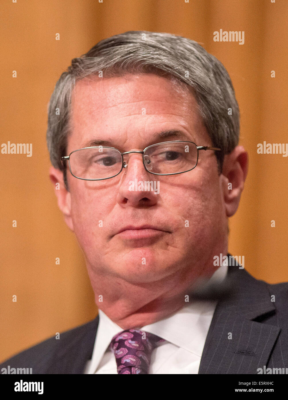 United States Senator David Vitter (Republican of Louisiana), a member of the U.S. Senate Committee on Banking, - Stock Image