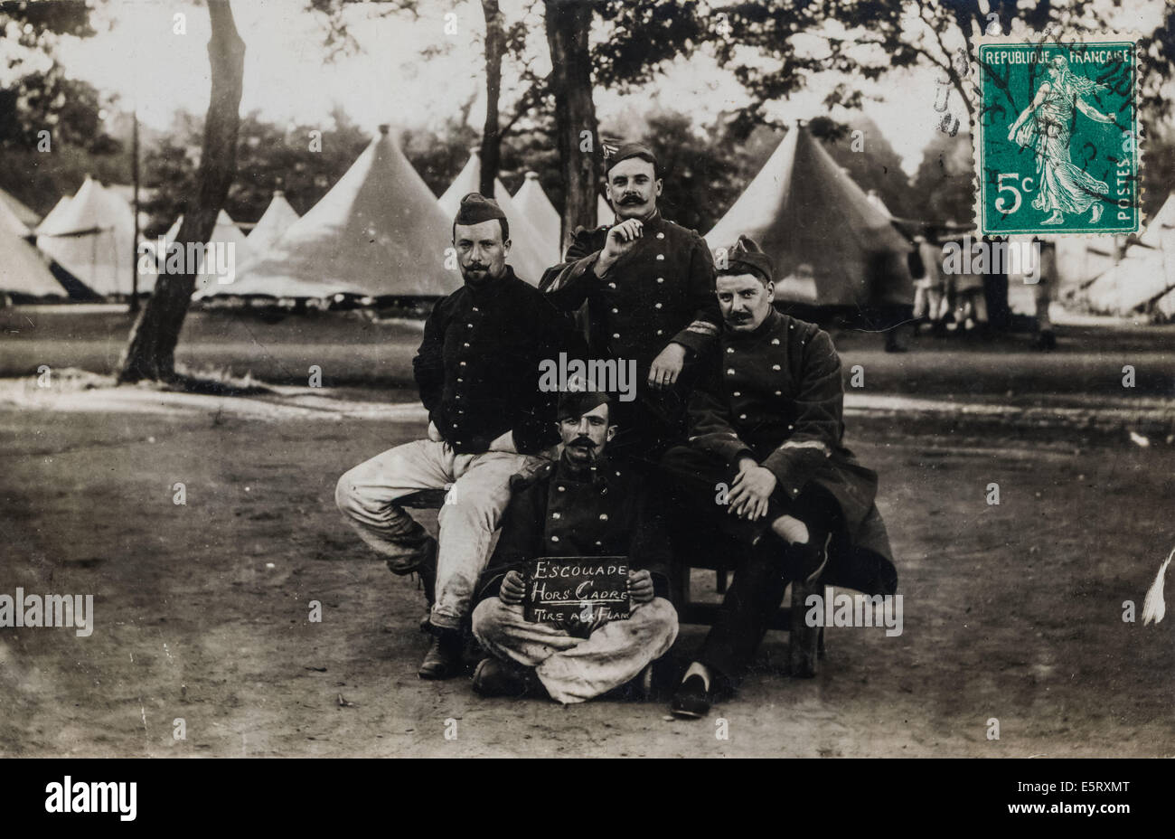 French soldiers during the First World War. - Stock Image