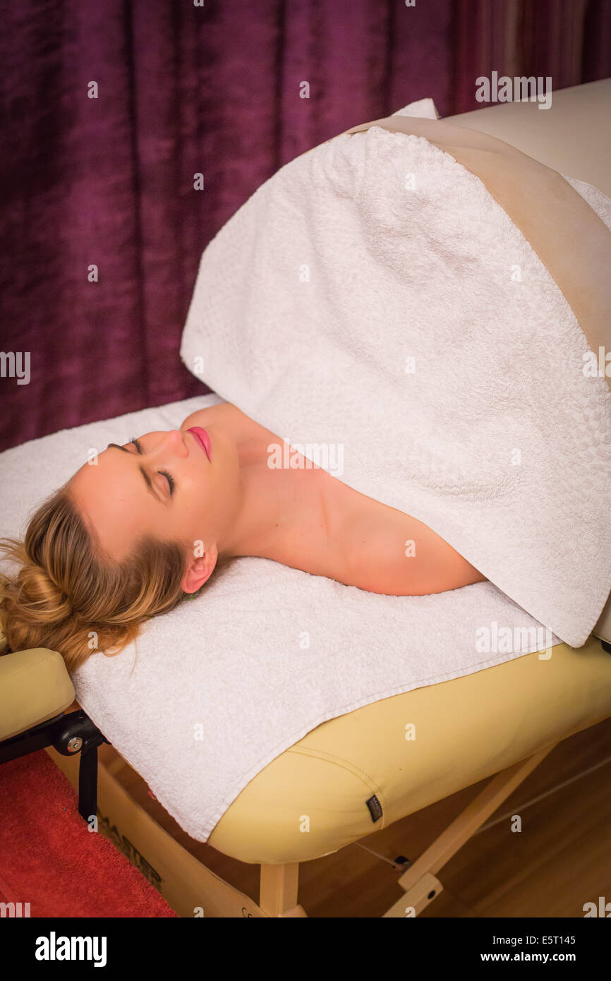 Slimming and detoxification technique, sweating session produced by long infrared rays in a Iyashi dome. - Stock Image