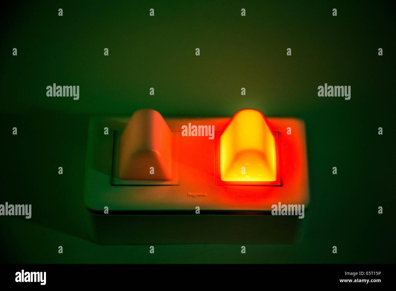 Light signal during a radiology examination. - Stock Image