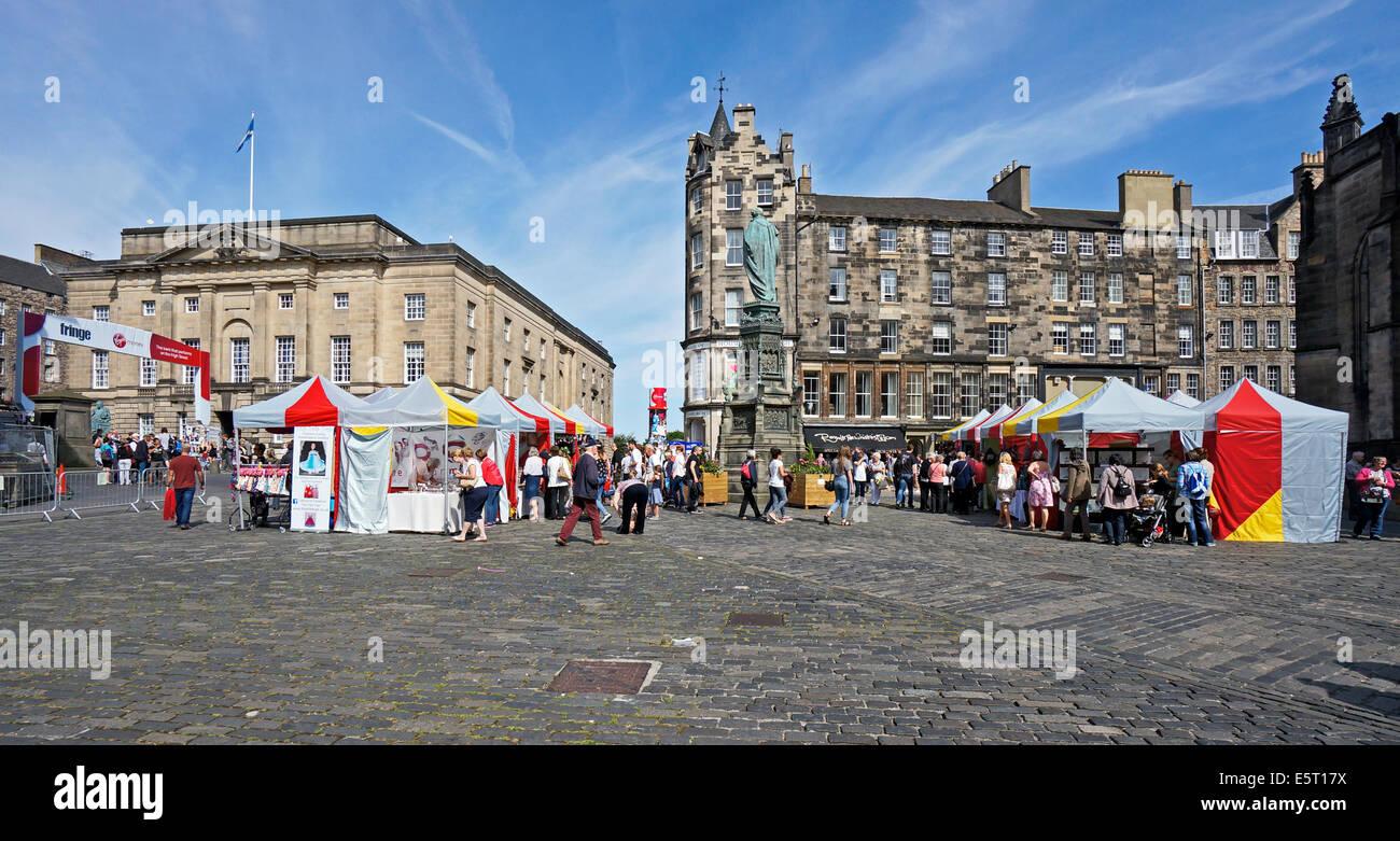 Edinburgh Fringe Festival 2014 outlets in High Street The Royal Mile Edinburgh Scotland - Stock Image