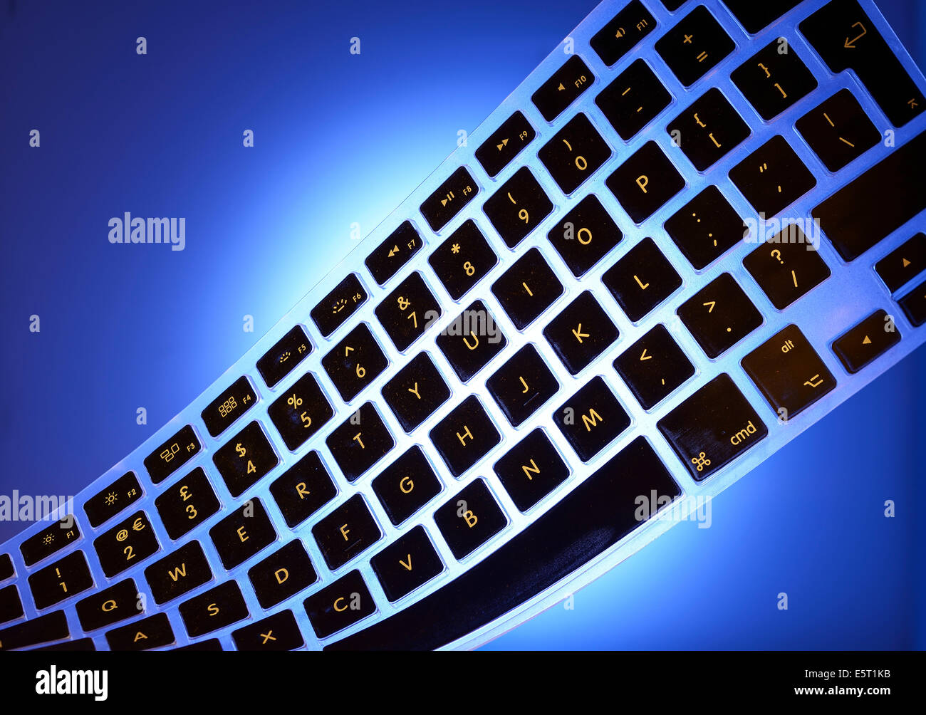 Flexible computer keyboard - Stock Image