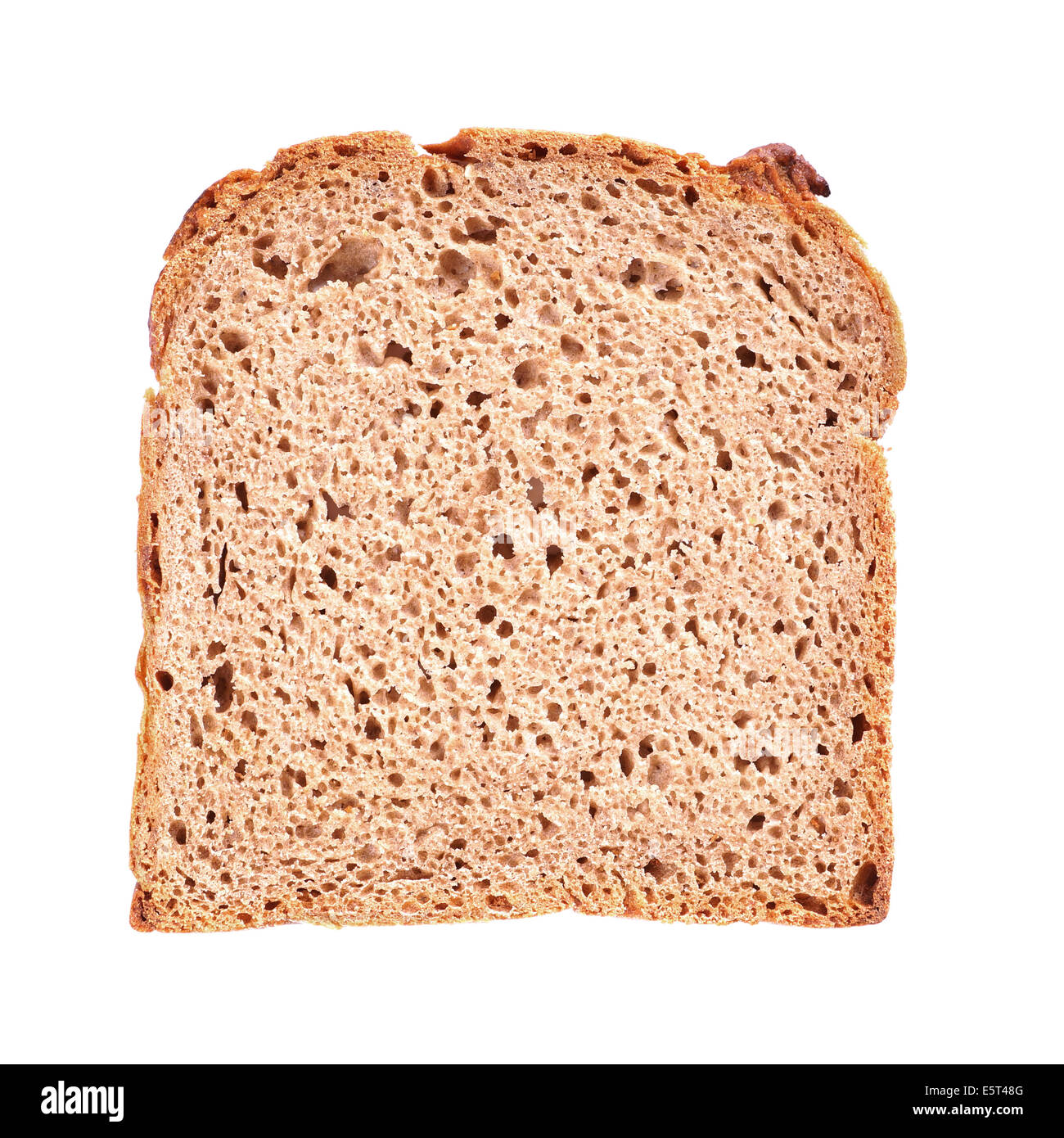 slice of brown bread known as Gerster in Germany - Stock Image