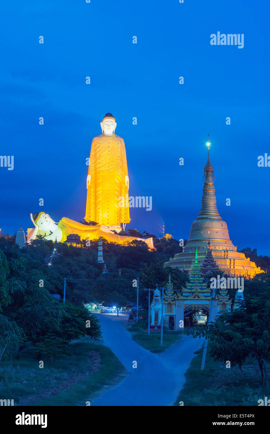 South East Asia, Myanmar, Monywa, Bodhi Tataung, largest buddha statue in the world Stock Photo