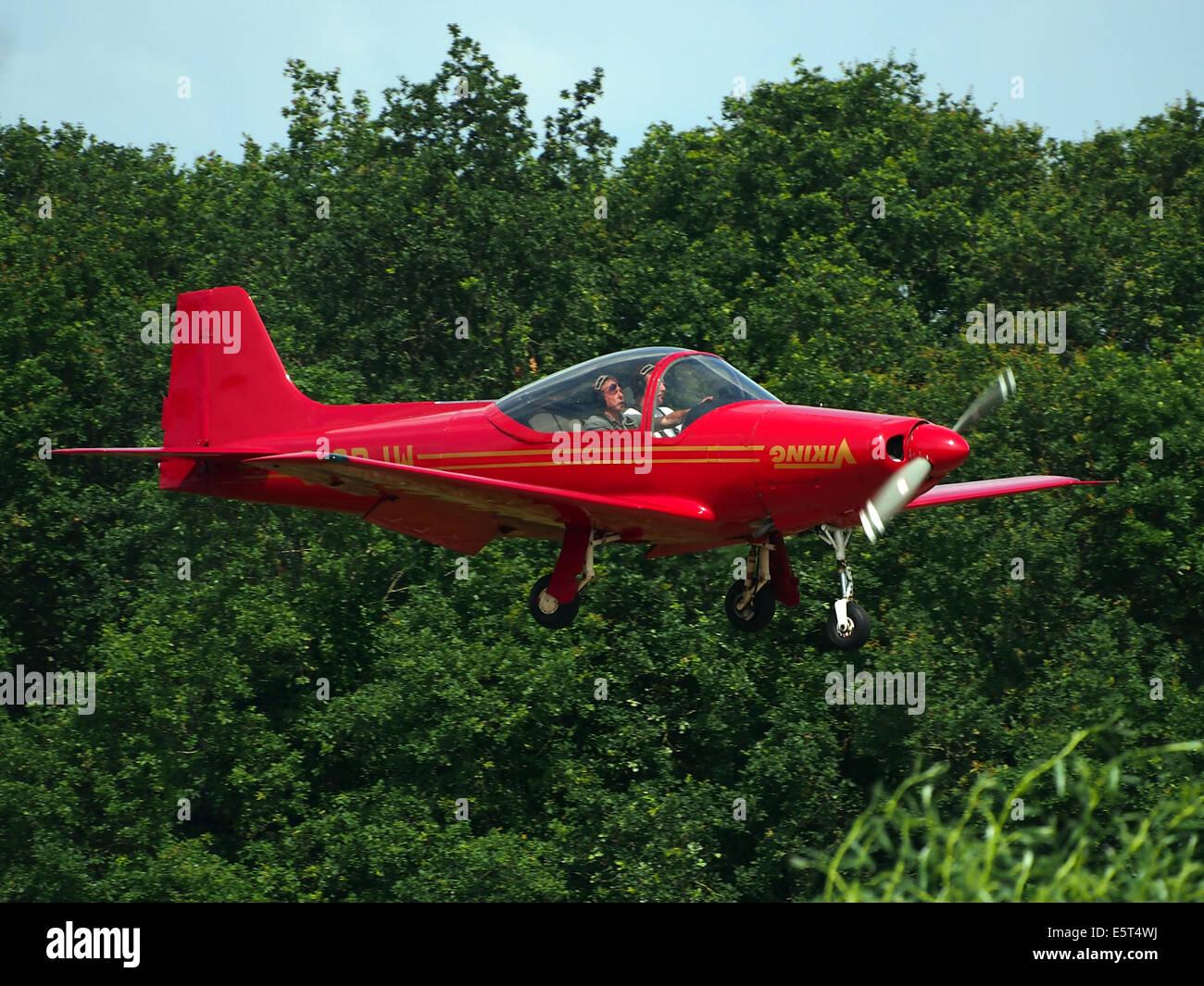 G-ORJW Laverda F8L Falco IV , landing at Hilversum Airport (ICAO EHHV), photo2 - Stock Image