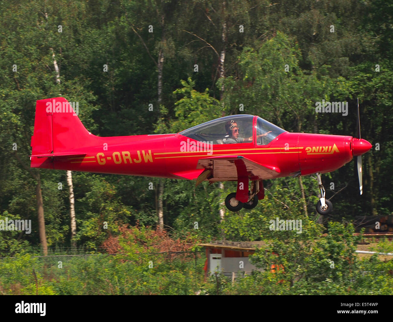 G-ORJW Laverda F8L Falco IV , landing at Hilversum Airport (ICAO EHHV), photo3 - Stock Image