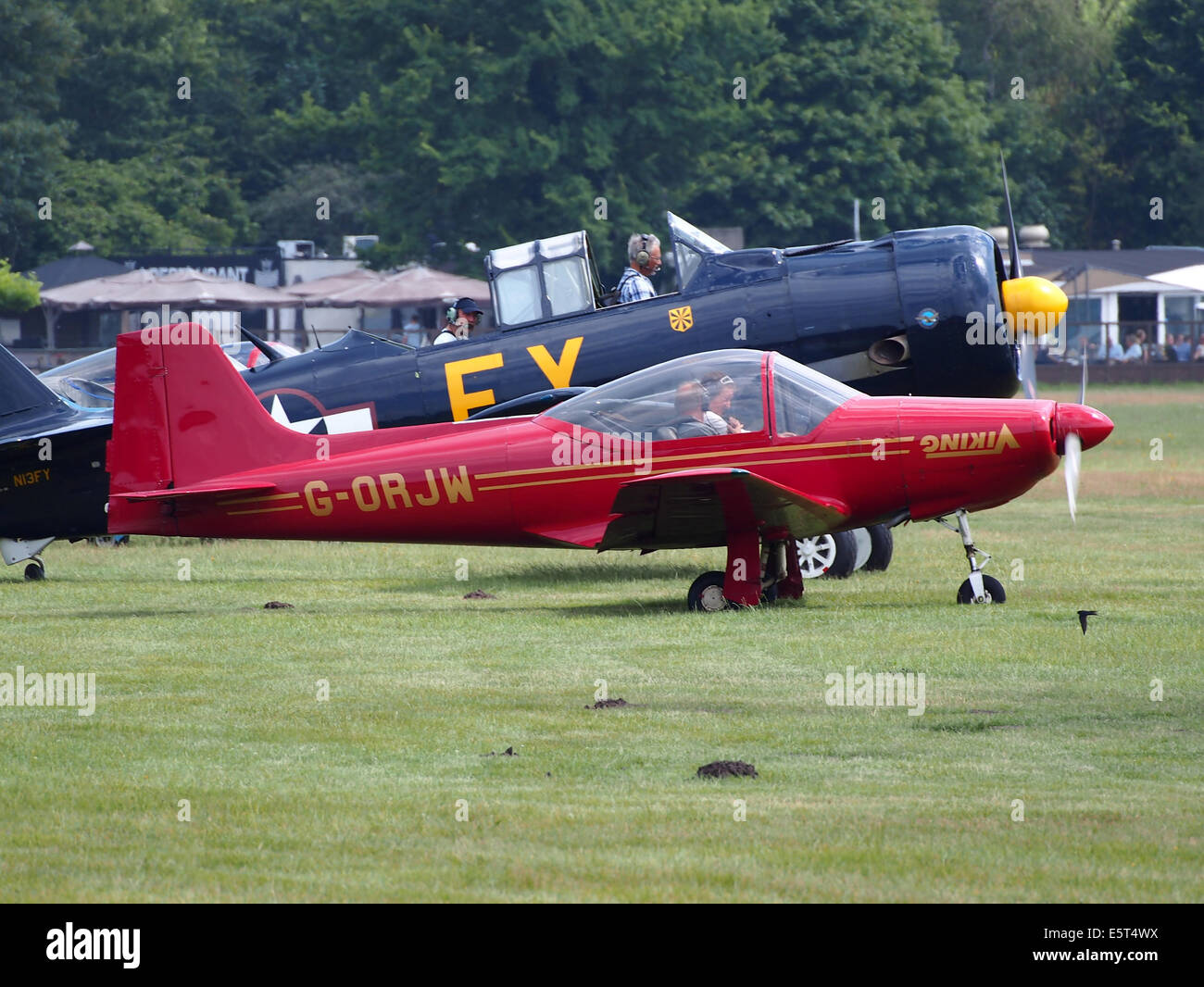 G-ORJW Laverda F8L Falco IV , takeoff from Hilversum Airport (ICAO EHHV), photo1 Stock Photo