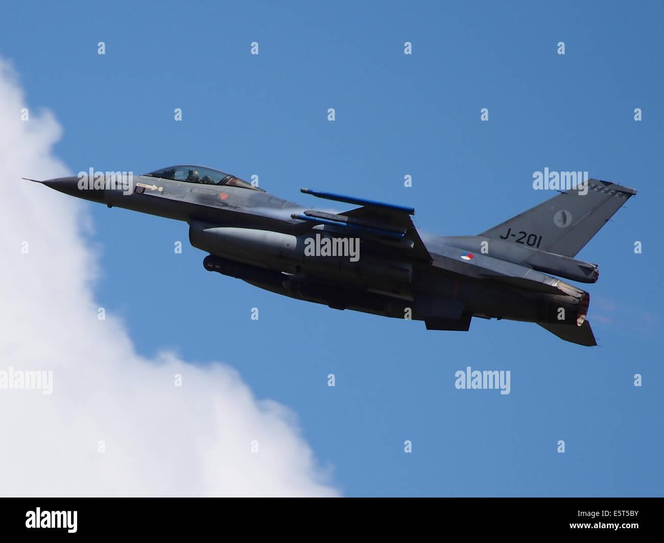 J-201 General Dynamics F-16AM Fighting Falcon - Stock Image