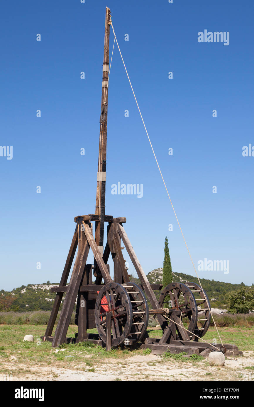 Catapult Trebuchet Stock Photos Images Diagram Of Our The Fortress Les Baux De Provence France Image