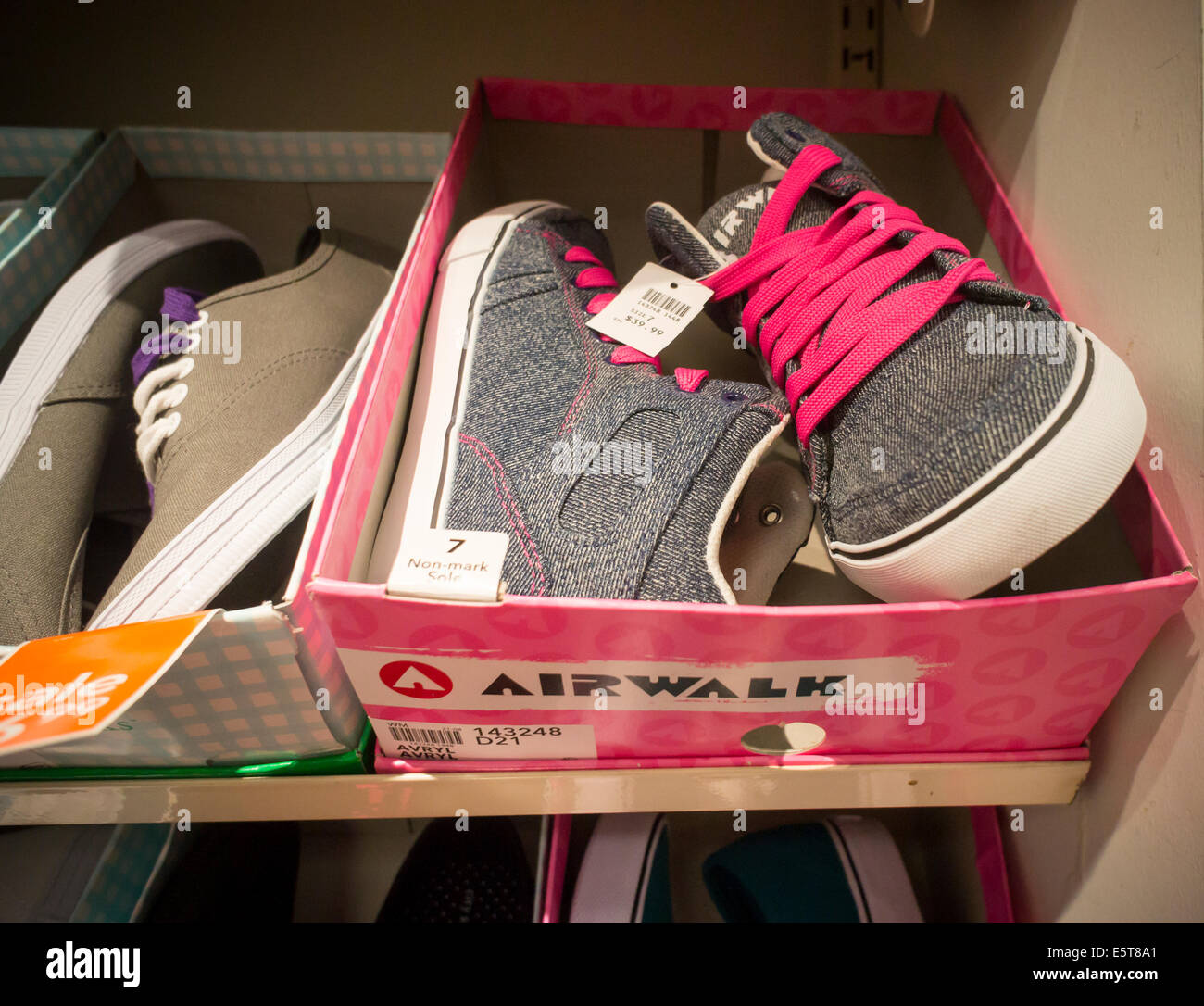 a8c42d069 Airwalk sneakers in a Payless ShoeSource store in New York Stock ...