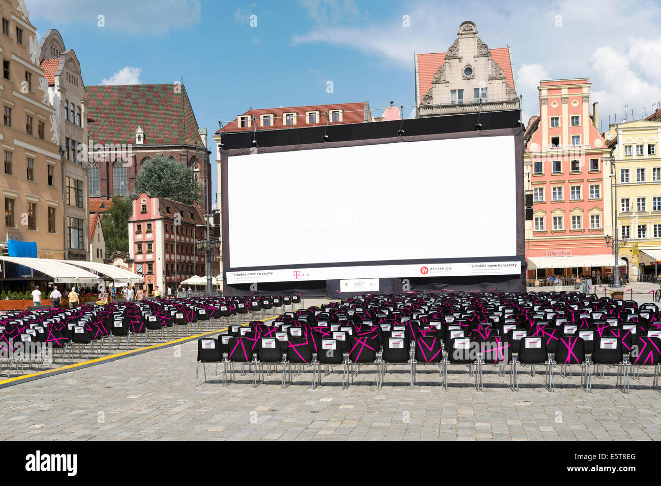 Empty cinema before the evening show as part of New Horizons Cinema, Poland s Largest Art House Cinema. - Stock Image