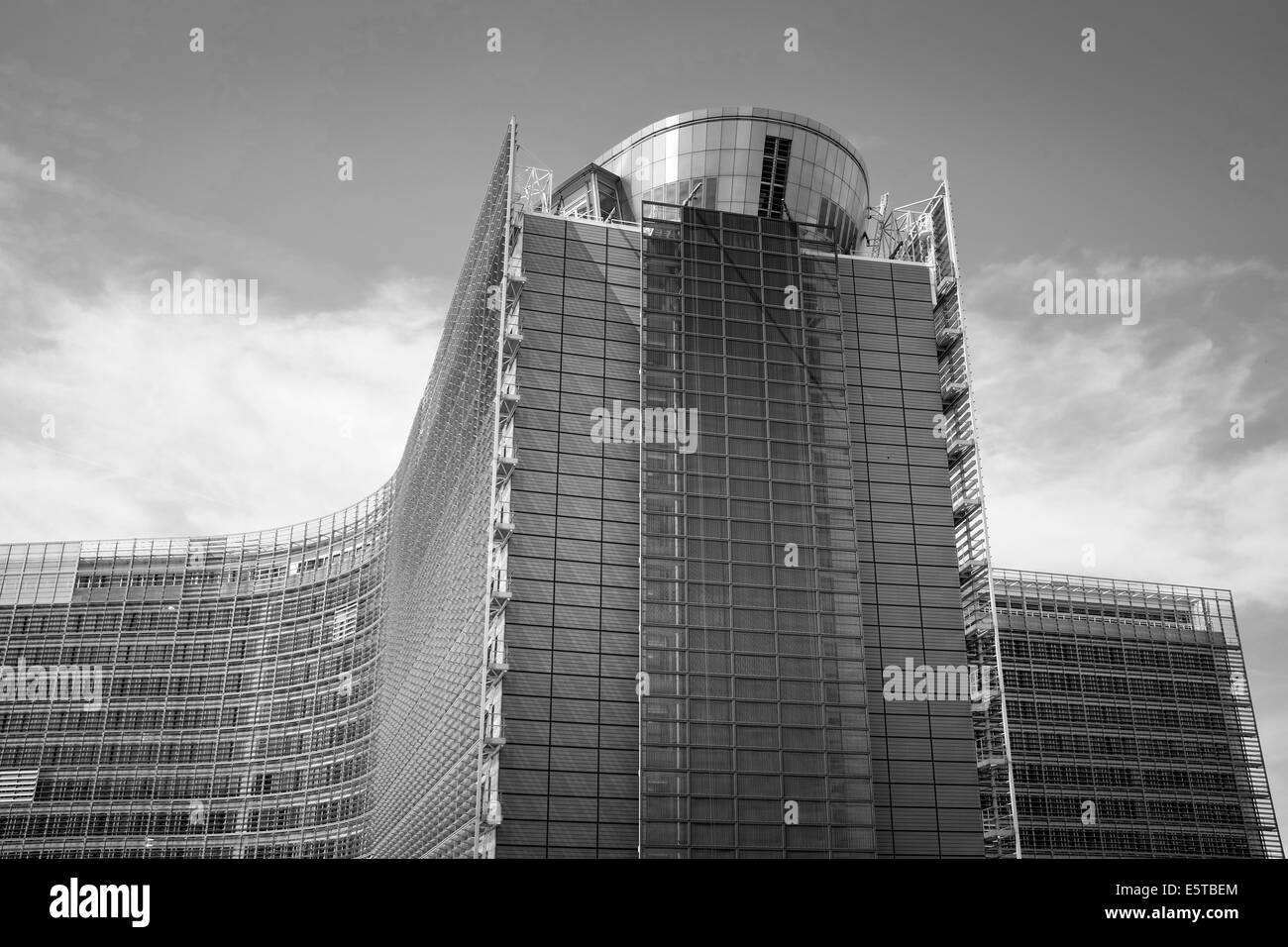 Berlaymont building of the European Commission for the administration of the European Union in Brussels, Belgium - Stock Image