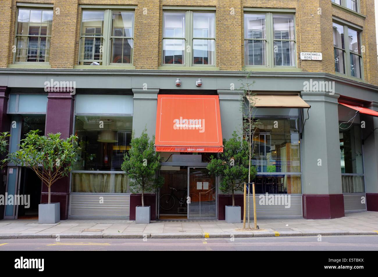 Bistrot Bruno Loubet restaurant on Clerkenwell Road, London - Stock Image