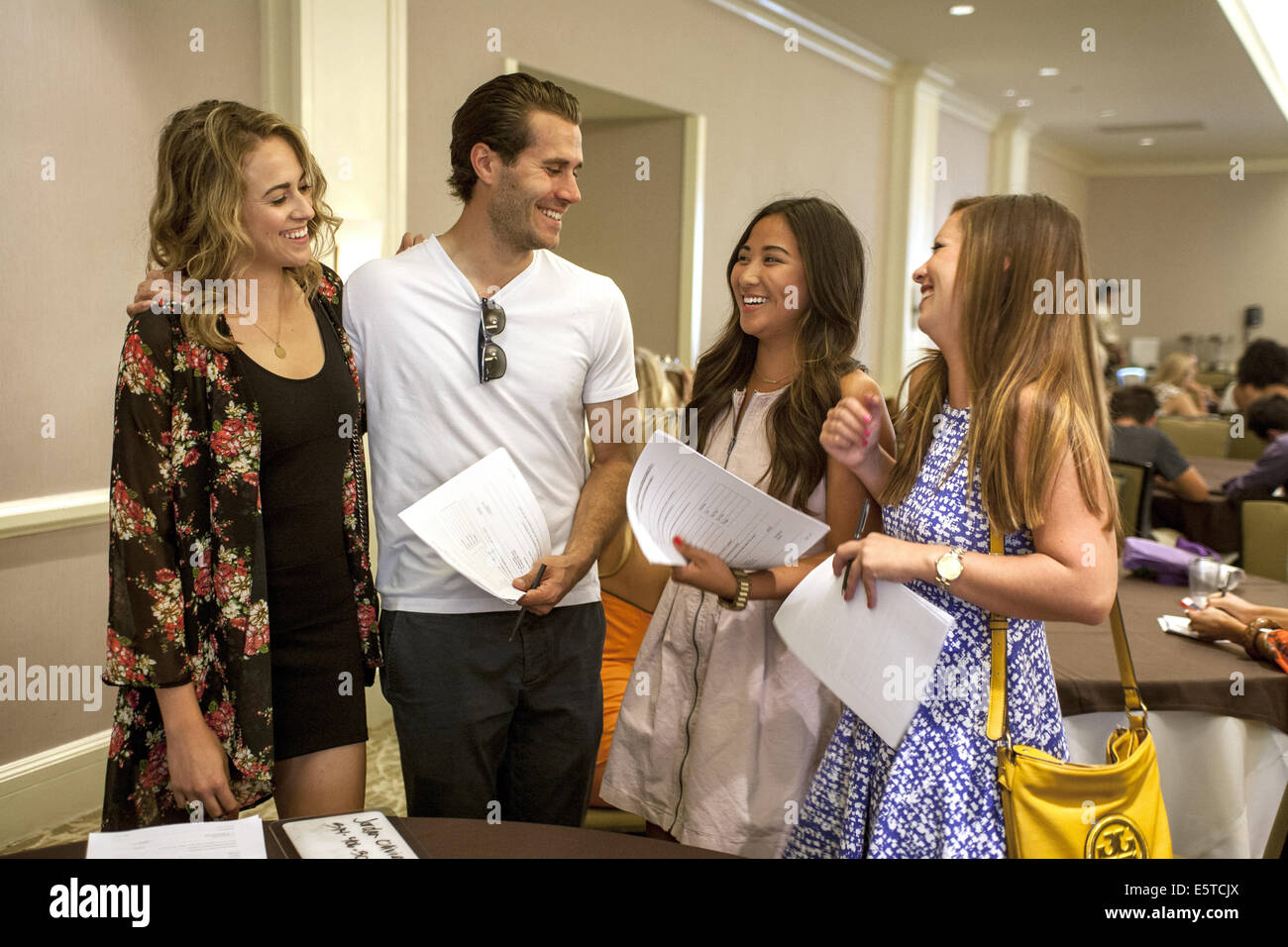 July 20, 2014 - Ben Gray, one of the few male contestants at the 2015 casting call for ''The Bachelor'' - Stock Image