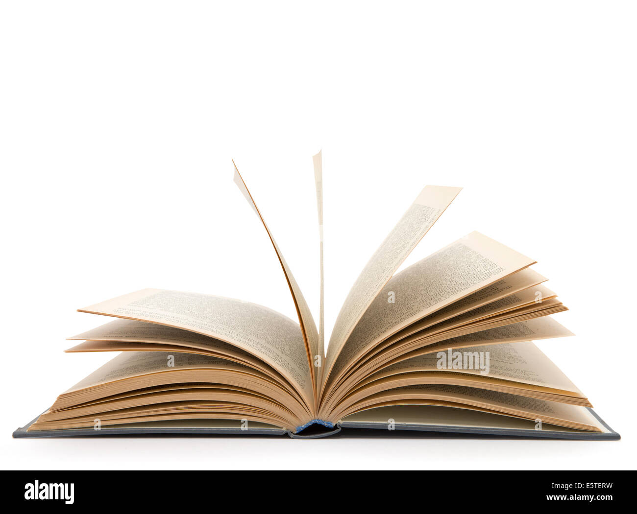 Open book isolated on white background - Stock Image