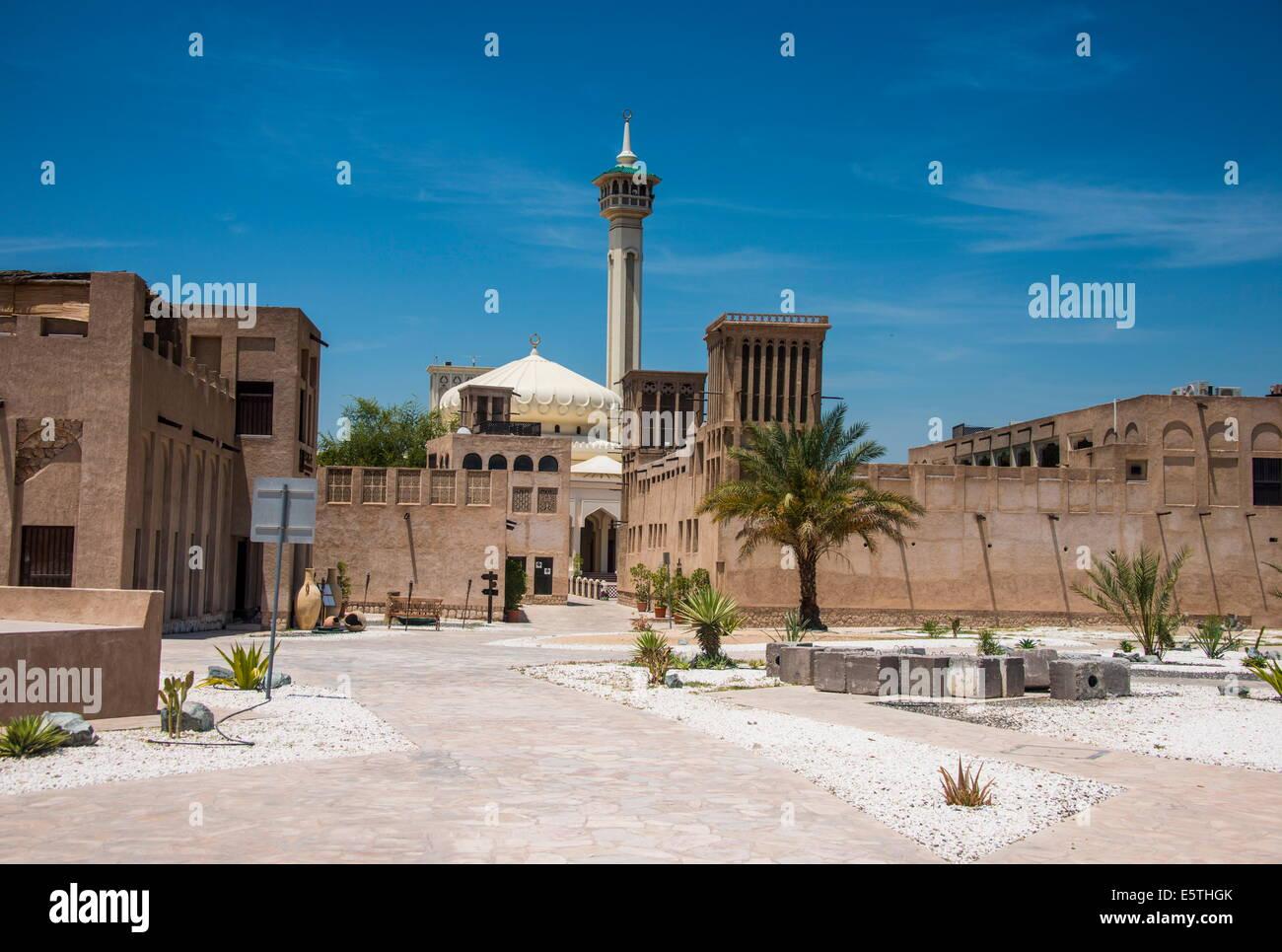 Entrance to the Bur Dubai souk of Dubai, United Arab Emirates, Middle East - Stock Image