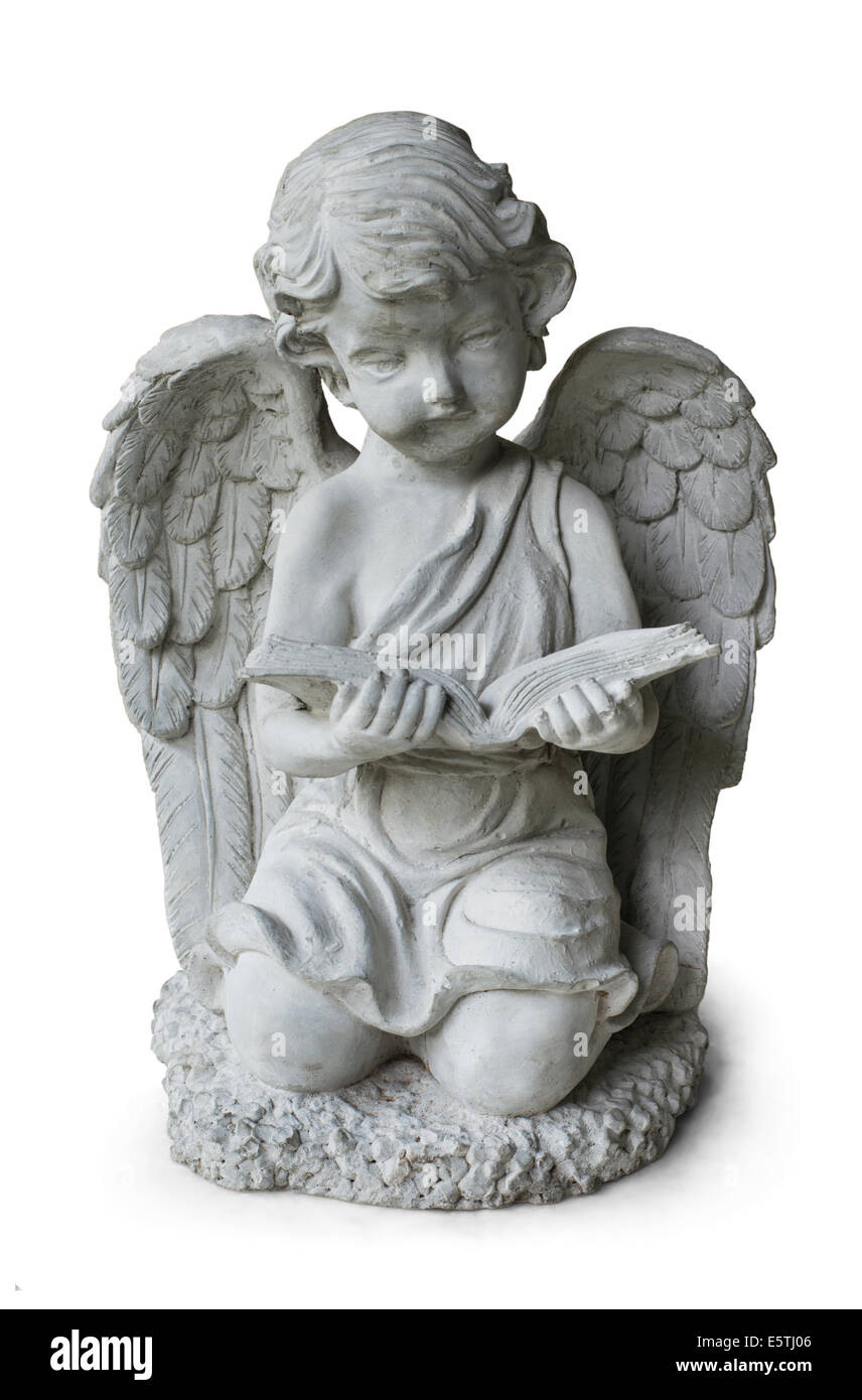 Statue book reader - Stock Image