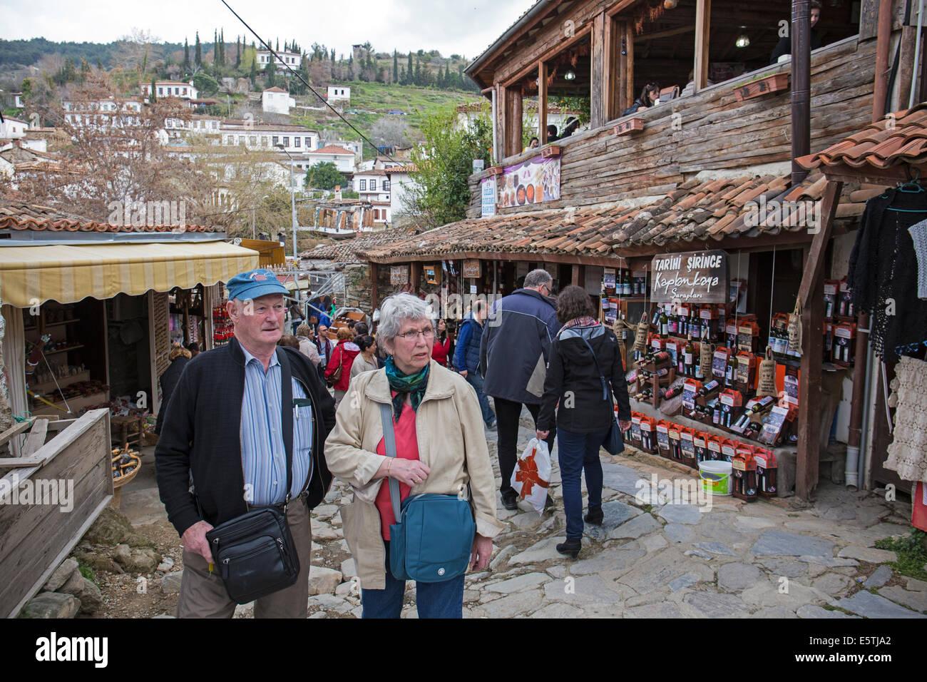Tourists in Şirince Turkey - Stock Image