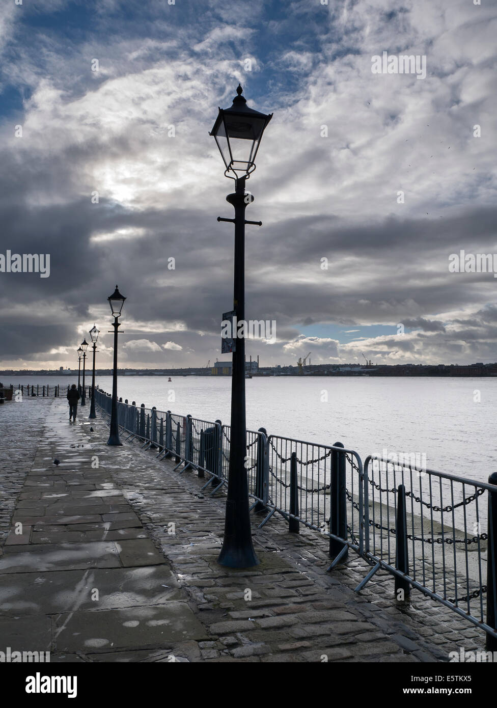 The Waterfront to the River Mersey, Liverpool - Stock Image