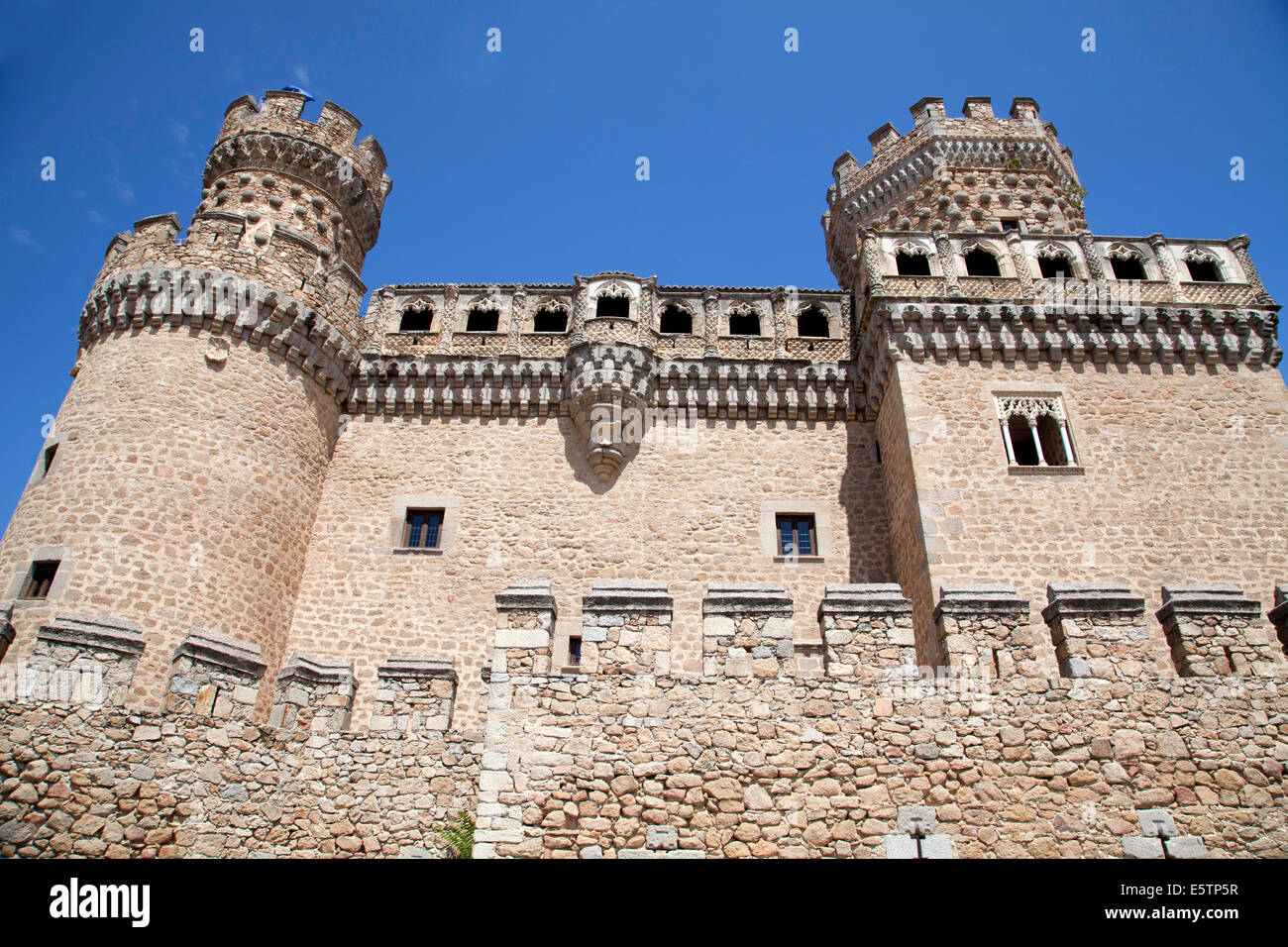 Castle of Manzanares el Real, Madrid, Spain Stock Photo