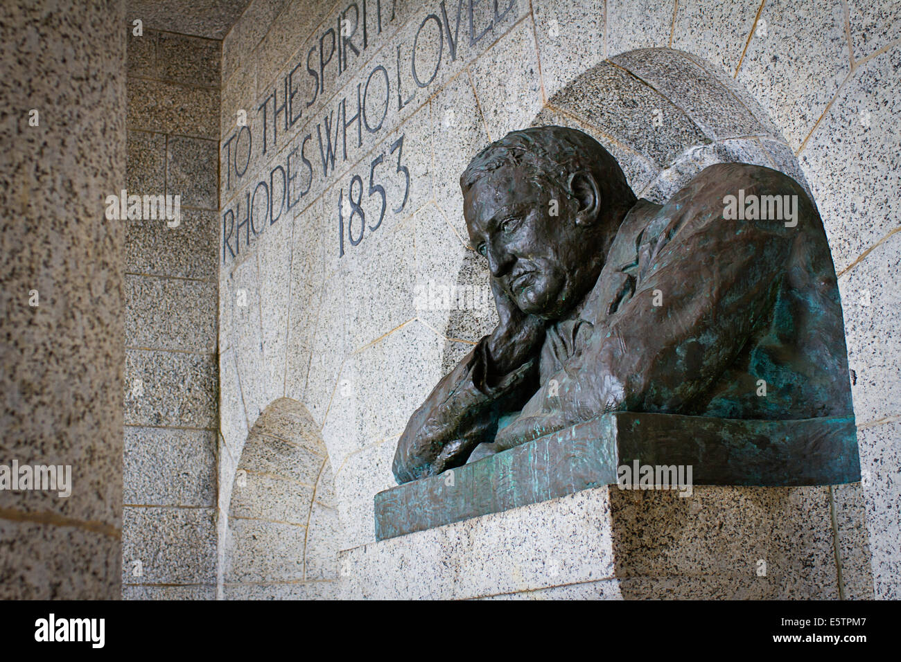 Bust of Cecil John Rhodes Stock Photo
