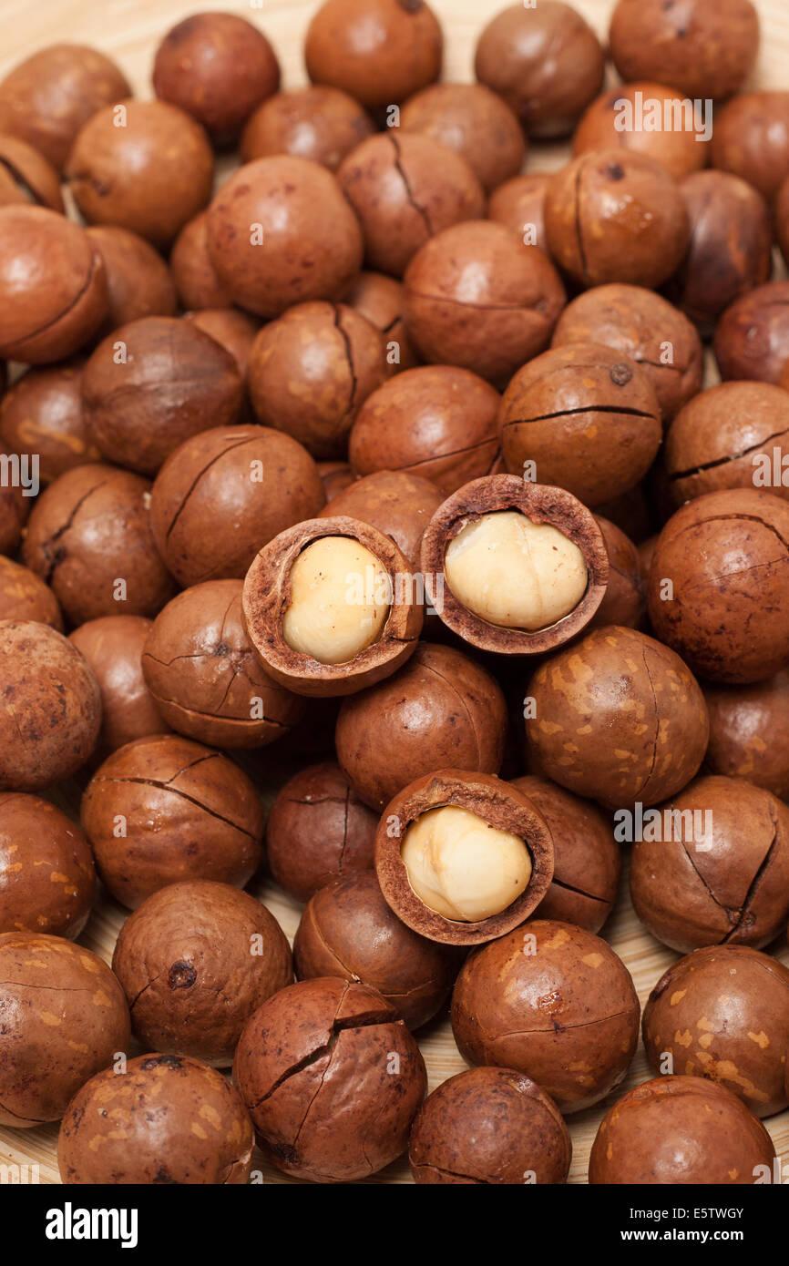 Macadamia background - Stock Image