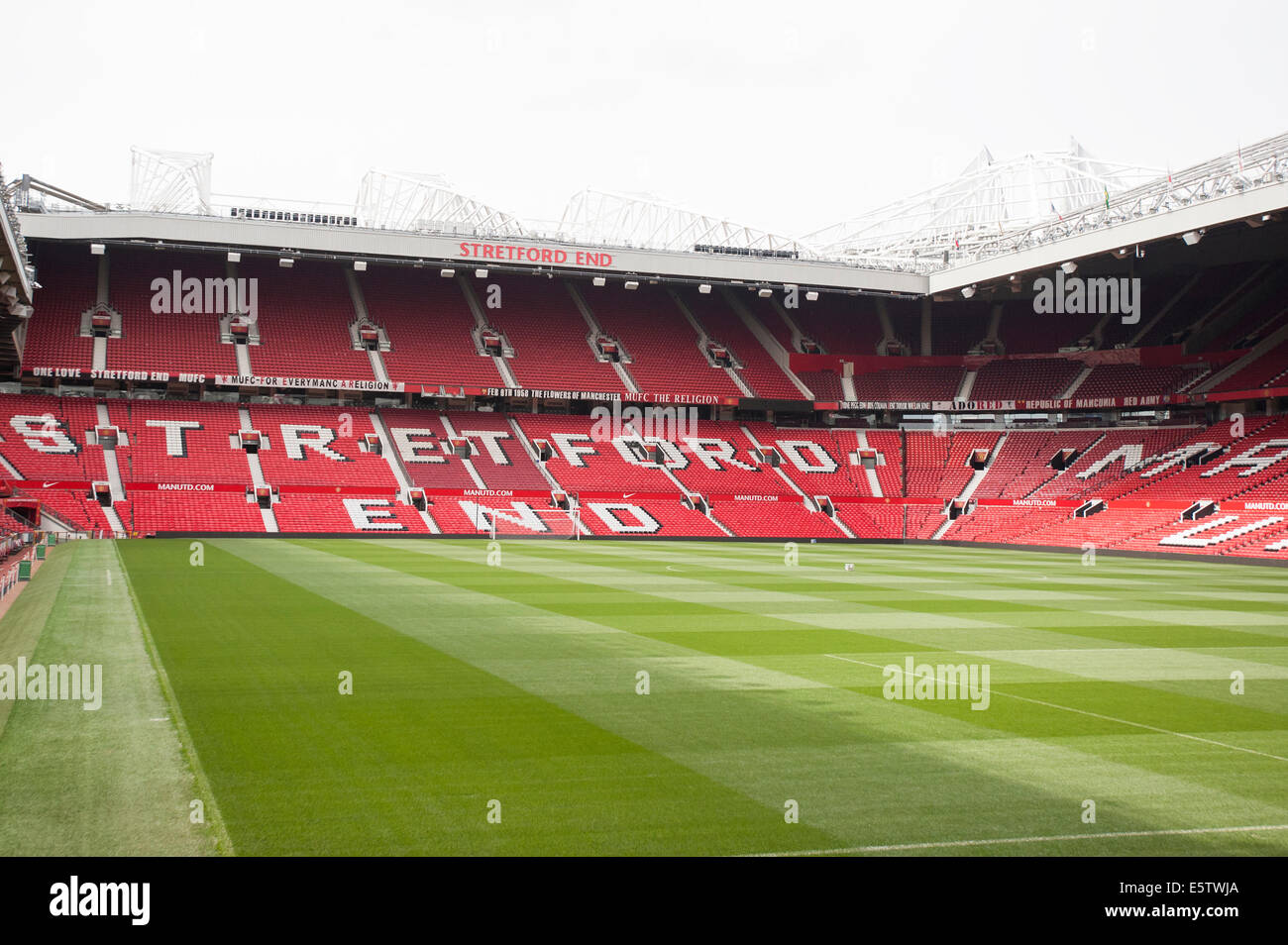 Old Trafford. MUFC. - Stock Image