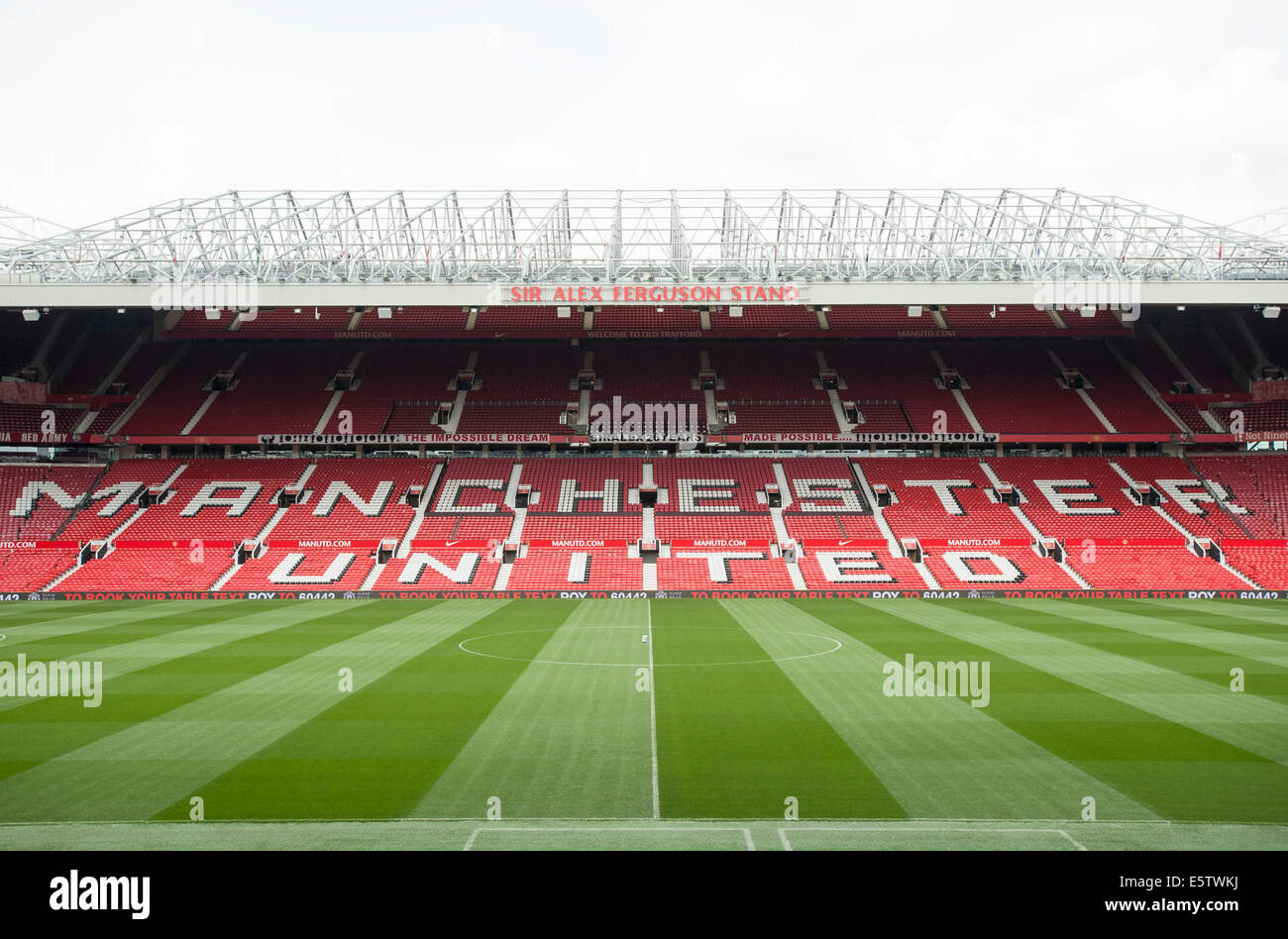 Old Trafford. Manchester United Football Club. - Stock Image