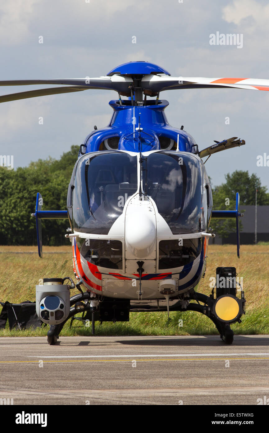 Dutch police helicopter on display at the Royal Netherlands Air Force Days - Stock Image