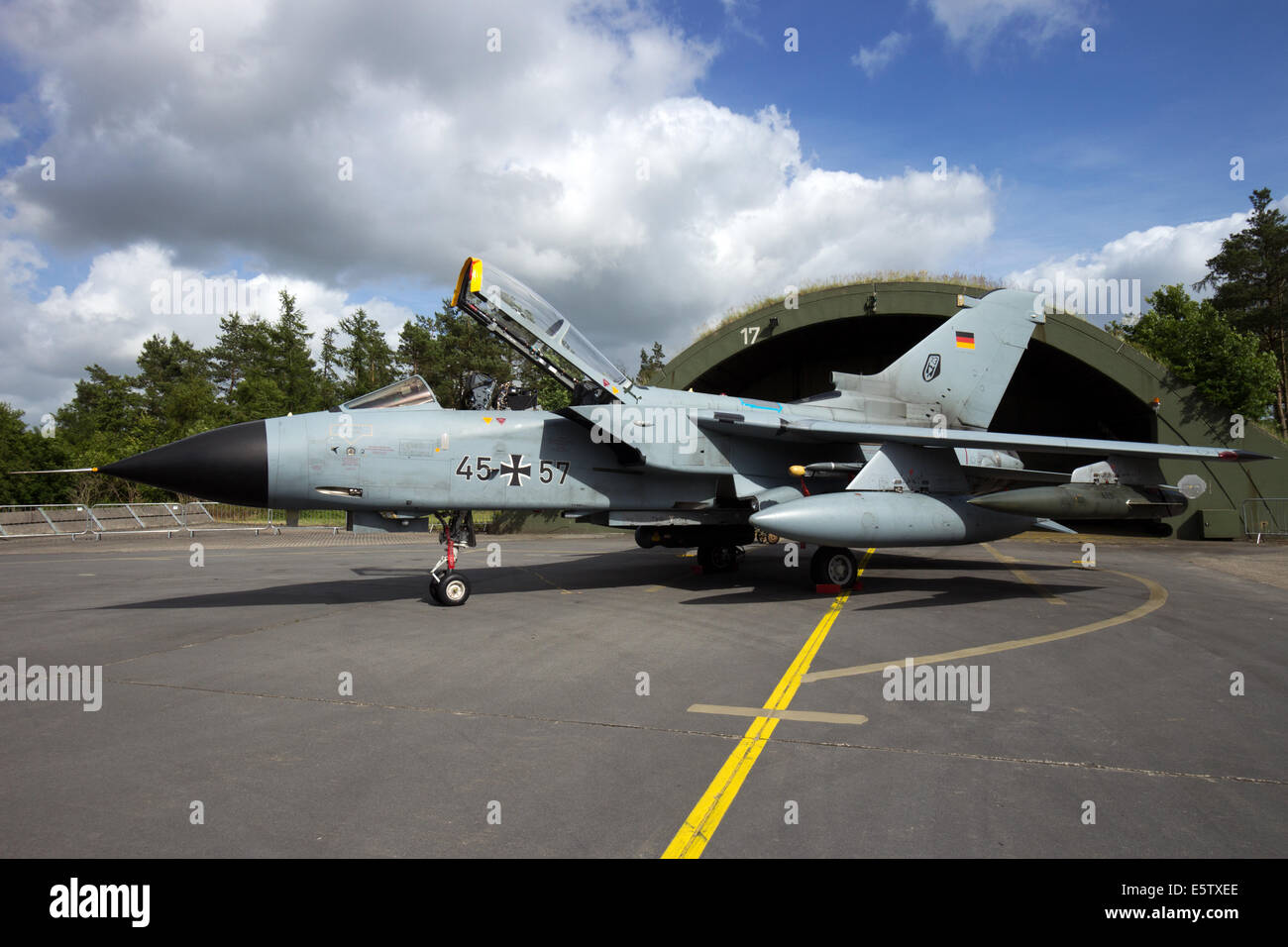 German Air Force Tornado fighter jet at the Phantom Pharewell on June 29, 2013 at Wittmund , Germany - Stock Image